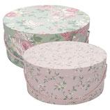 Greengate Storage Box Aufbewahrungsschachteln Josephine mint / Jolie pink Hutschachteln