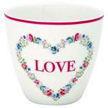 Greengate Latte Heart Love white