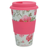 Grengate Travel Mug Meadow Pale Blue Bamboo