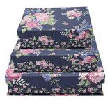 Greengate Storage Box Aufbewahrungsschachteln Rose dark blue