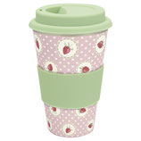 Grengate Travel Mug Strawberry pale Pink Bamboo
