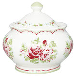 Greengate Zuckerdose sugar pot Mary white
