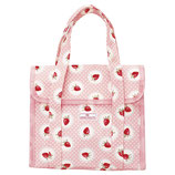 Greengate kleine Kühltasche Strawberry pale pink Cooler Lunch Bag