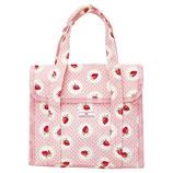 Greengate kleine Kühltasche Strawberry pale pink Cooler Lunch Bag