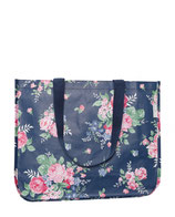 Greengate Rose dark blue Tasche Shopper aus Plane