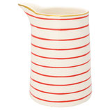 Greengate Jug Krug Sally red with gold Kanne