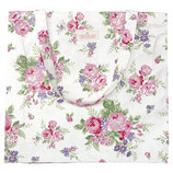 Greengate Shopper Baumwolltasche Rose white