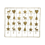 Greengate Adventskalender Metall gold