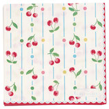 Greengate kleine Papierservietten Cherry white
