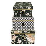 Greengate Storage Box Aufbewahrungsschachteln Josephine Black