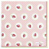 Greengate kleine Papierservietten Strawberry pale pink