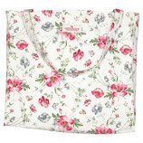Greengate Shopper Baumwolltasche Meadow white