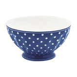 Greengate Schälchen Frenchbowl Large Spot Blue