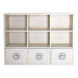 Greengate Holzregal weiß mit Schubladen No1 Wood Cabinet