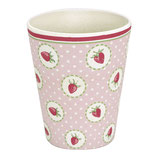 Grengate Becher Cup Strawberry pale pink Bamboo