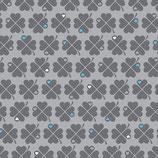 Graziela Jersey Swafing Kleeblätter Grau Retro Glücksklee