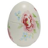 Greengate Stoneware Jar Meryl white Porzellan-Ei zum Füllen