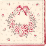 Greengate kleine Papierservietten Flora white