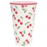 Grengate Melamin Hoher Becher Mug Cherry white