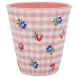 Grengate Melamin Becher Mug Viola Check pale Pink