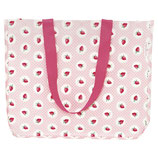 Greengate Strawberry Tasche Shopper aus Plane