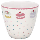 Greengate Latte Cup Madelyn white