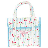 Greengate kleine Kühltasche Cherry white Cooler Lunch Bag