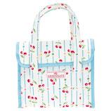 Greengate kleine Kühltasche Cherry white Cooler Lunch Bag