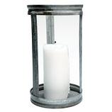 Greengate Windlicht Hurricane Zink / Glas groß