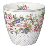 Greengate Latte Cup Rose white