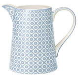 Greengate Jug großer Krug 1 l Bianca dusty Blue
