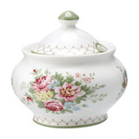 Greengate Zuckerdose sugar pot Aurelia white