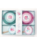 Greengate Phoebe Cupcake Muffin Set