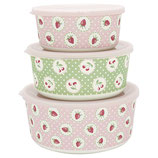 Grengate Dosen 3er-Set Lunchbox Strawberry Pale Pink Bamboo
