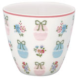 Greengate Latte Cup Elsie white
