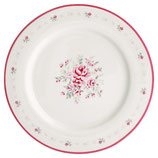 Greengate Großer Speiseteller Dinnerplate Flora white