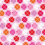 Graziela Jersey Swafing Kleeblätter Pink bunt Retro Glücksklee