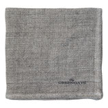 Greengate Bread Basket napkin  Heavy Linen Serviette warm grey