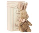 Maileg My first Bunny in Box blau Hasenbaby rosa