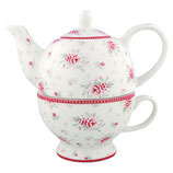 Greengate Tea for one Kanne mit Tasse Flora white