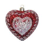 Greengate Herz Weihnachtsanhänger Lace Red