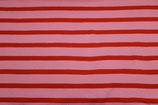 Swafing Gesa Jersey Ringel rosa / rot
