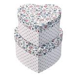 Greengate Storage Box Herz Aufbewahrungsschachteln Ruby petit white