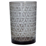 Greengate Windlicht Hurricane Glas Laurie warm grey