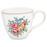 Greengate Mug Henkelbecher Teetasse Franka white