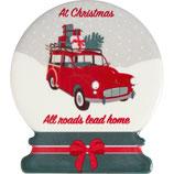 Greengate Magneten 4er-Set Christmas Car Red