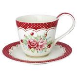 Greengate Tasse mit Untertasse Cup Saucer Mary