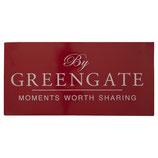 Greengate Schild rot Metall