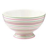 Greengate Schälchen Soupbowl Silvia Stripe white