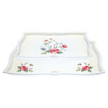 Greengate Tablett Meadow white 2er Set